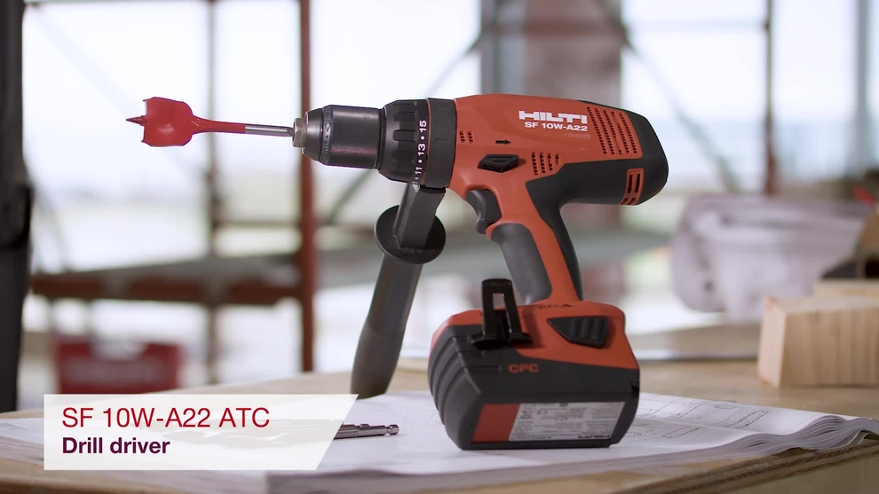 Product video of Hilti's cordless drill driver SF 10W-ATC