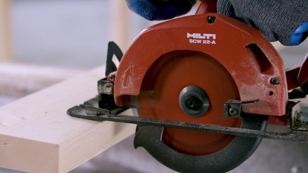 Product video of Hilti's circular saw SCW 22-A