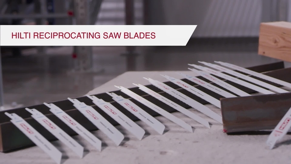 Product video of Hilti's ultimate wood metal reciprocating saw blade SRB WDX