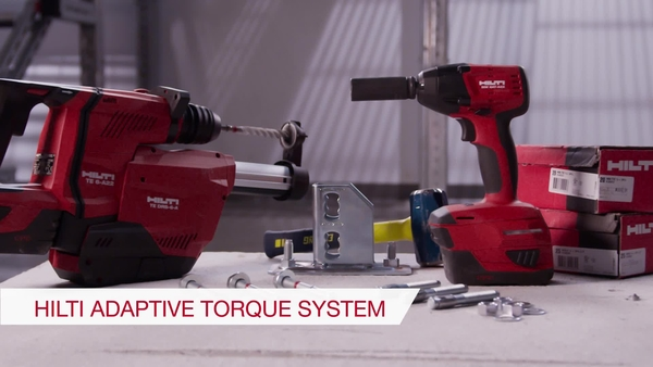 Product video of Hilti's cordless impact wrench SIW 6AT-A22 with adaptive torque module SI-AT-A22