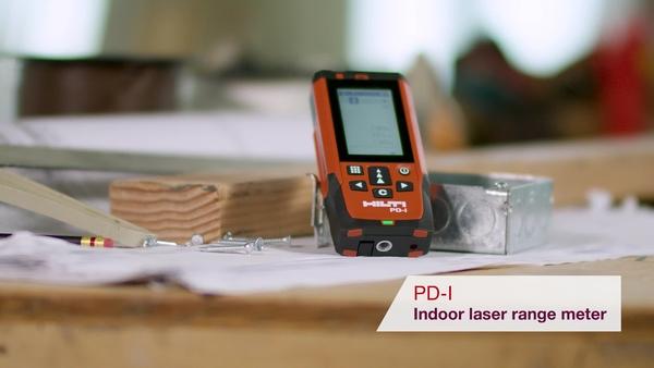 Product video of Hilti's laser measurer PD-I