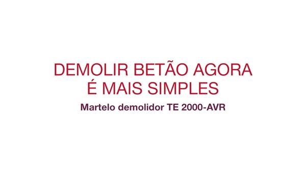 Vídeo promocional do TE 2000-AVR, destacando as principais características desta ferramenta e com testemunhos de clientes.