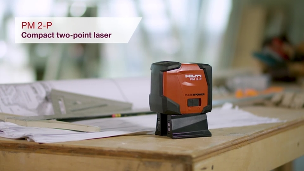 Product video of Hilti's two point laser PM 2-P