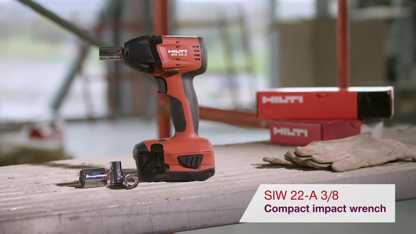 Product video of Hilti's cordless impact wrench SIW 22-A 3/8""