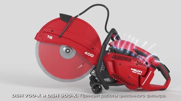 DSH 700-X, DSH 900-X - Циклонный фильтр.