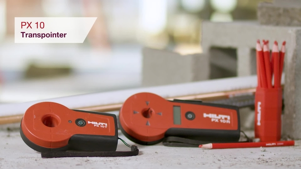 Product video of Hilti's detector PX 10 Transpointer