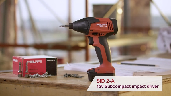 Product video of Hilti's cordless impact driver SID 2-A