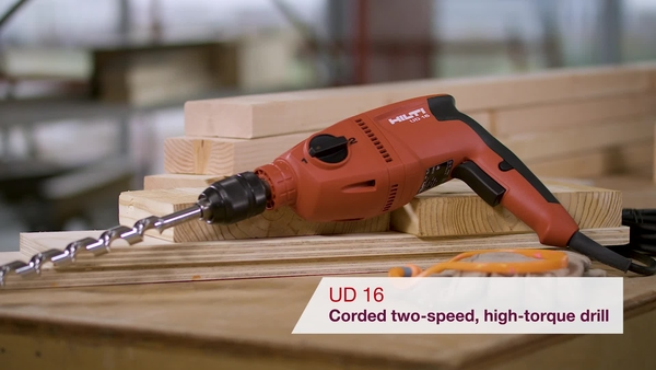 Product video of Hilti's drill driver for wood applications UD 16