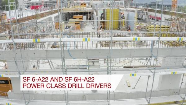 Video promocional de la cartera de herramientas SF6 para la campaña de sistemas de carga inalámbrica sobre las atornilladoras taladro SF 6(H)-A22 y SF 6-A22