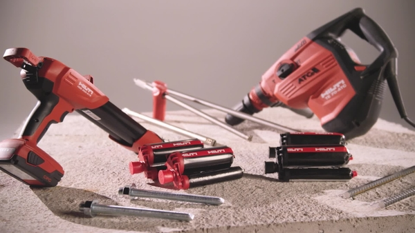 Hilti slow cure adhesive anchor system.