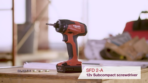 Product video of Hilti's cordless screwdriver SFD 2-A