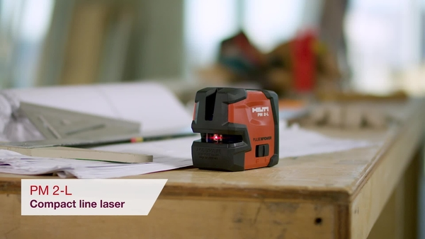 Product video of Hilti's line laser PM 2-L