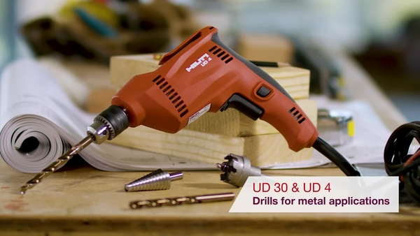 Product video of Hilti's drill drivers for metal applications UD 30 and UD 4