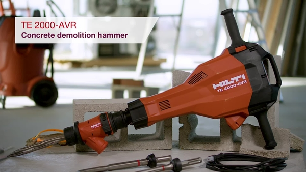 Product video of Hilti's demolition hammer TE 2000-AVR