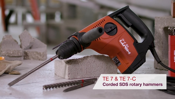 Product video of Hilti's SDS rotary hammers TE 7 and TE 7-C