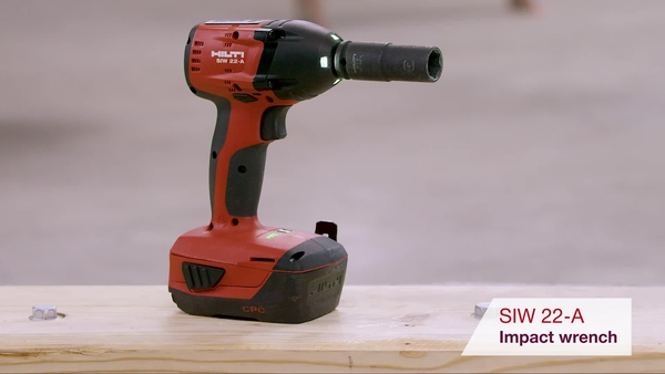 Product video of Hilti's cordless impact wrench SIW 22-A