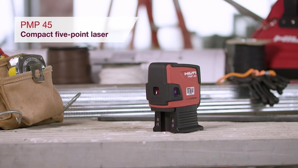Product video of Hilti's five-point laser PMP 45 in English