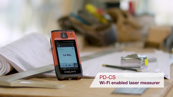 Product video of Hilti's Wi-Fi enabled laser measurer PD-CS