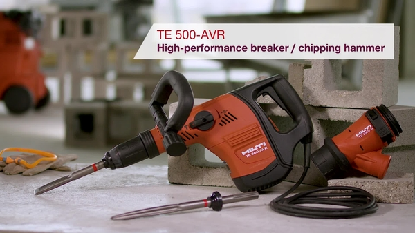 Product video of Hilti's breaker/chipping hammer TE 500-AVR