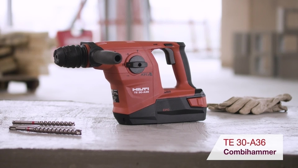 Product video of Hilti's cordless  combihammer TE 30-A36