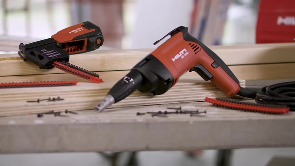 Product video of Hilti's wood/drywall screwdriver SD 2500