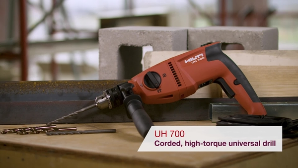Product video of Hilti's hammer drill driver UH 700