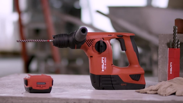 Product video of Hilti's cordless rotary hammer TE 4-A22