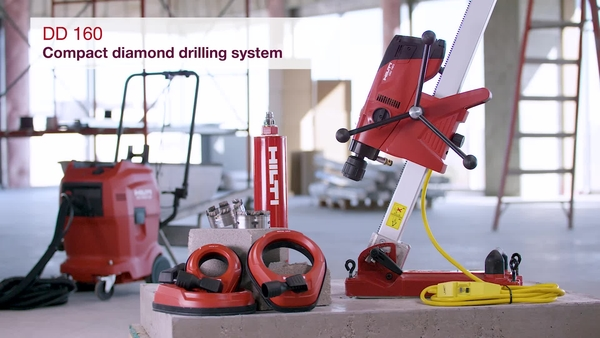 Product video of Hilti's diamond drilling system DD 160