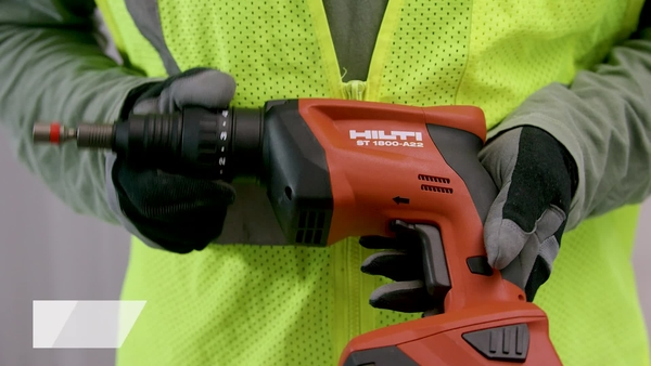 Product video of Hilti's adjustable torque screwdrivers ST 1800 and ST 1800-A22