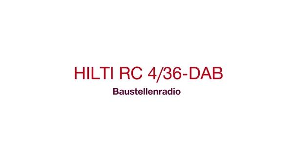 RC 4/36-DAB Radio-Ladegerät – Damit es auf der Baustelle rockt. Akkubetrieben.