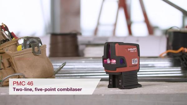 วิดีโอผลิตภัณฑ์ของเลเซอร์คอมบิ สองแนว ห้าจุด ของ Hilti PMC 46