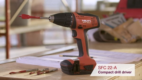 Product video of Hilti's cordless drill driver SFC 22-A