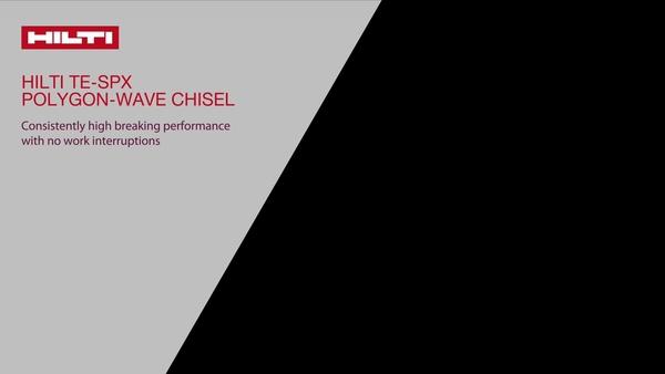 Introdução - Novo cinzel TE-SPX da Hilti, o melhor desempenho de cinzel no portfólio da Hilti