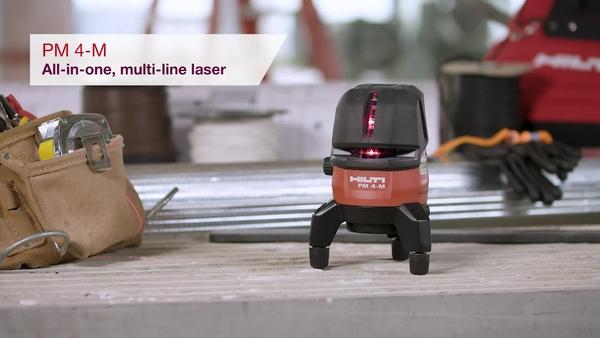 Product video of Hilti's multi-line laser PM 4-M