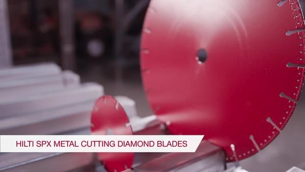 Product video of Hilti's metal cutting diamond blade SPX