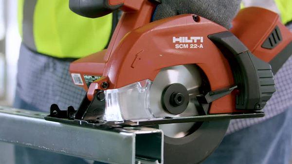 Product video of Hilti's circular saw SCM 22-A