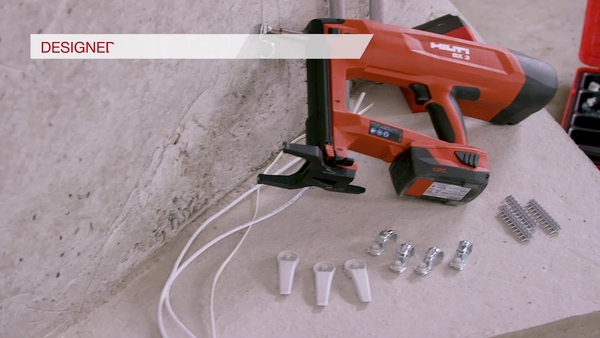 Product video of Hilti's battery actuated fastening tool BX 3-ME