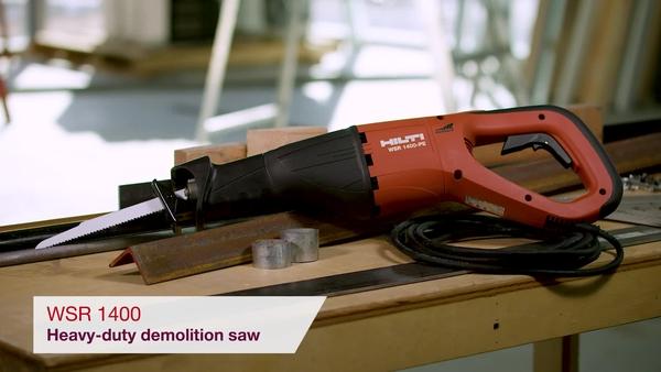 Product video of Hilti's heavy-duty demolition saw WSR 1400-PE