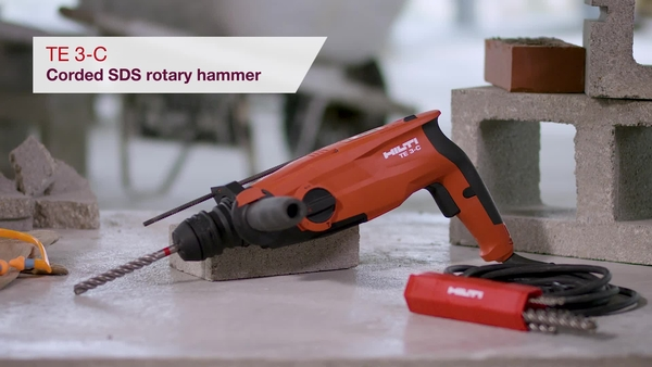 Product video of Hilti's SDS rotary hammer TE 3-C