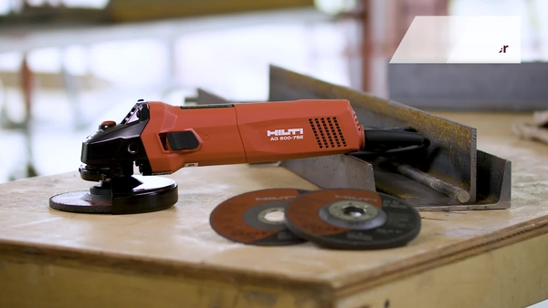 Product video of Hilti's corded angle grinder AG500-7SE