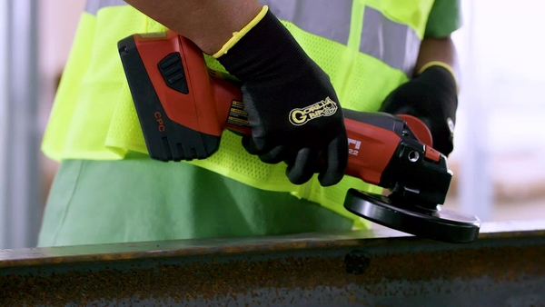 Product video of Hilti's angle grinder AG500-A22