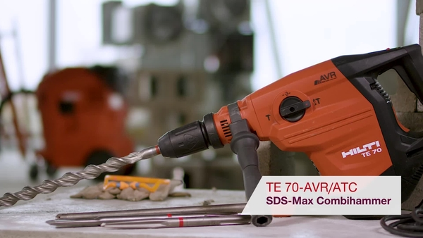 Product video of Hilti's SDS-max combihammer TE 70-ATC/AVR