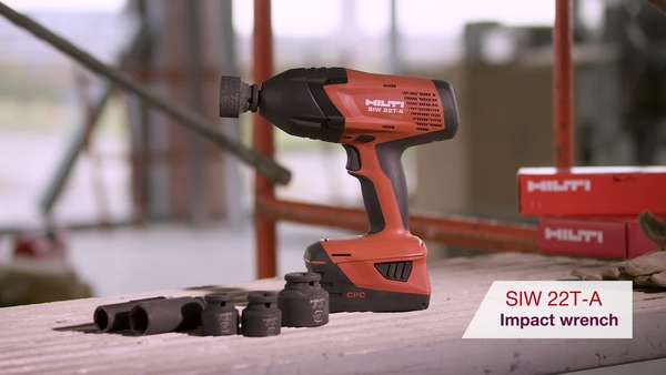 Product video of Hilti's cordless high-torque impact wrench SIW 22T-A