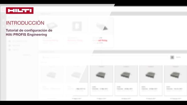 Video tutorial: obtenga información acerca de las características de la herramienta Hilti PROFIS Engineering y acerca de cómo gestionar sus proyectos, archivos de diseño y ajustes de programa.