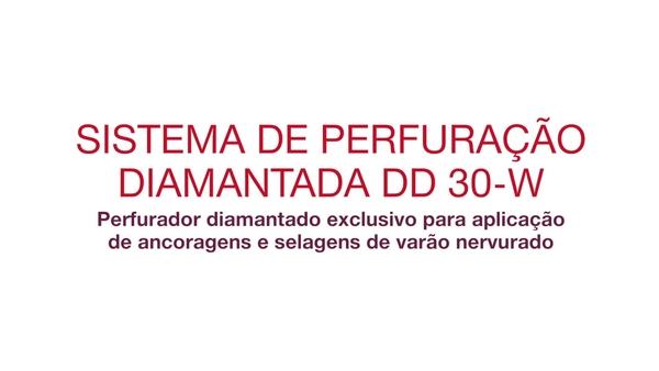 Vídeo promocional: sistema de perfuração diamantado extraordinário para aplicações de vergalhões e fixações (português)