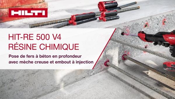RE 500 V4, installation sur sol/mur avec mèche creuse.