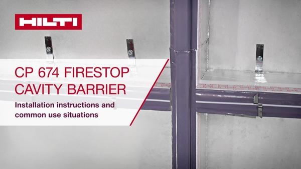 Navodila za nameščaje pregrade votline požarne zaščite CP 674