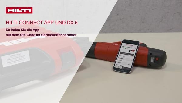 So laden Sie die App herunter mit dem QR-Code auf dem Gerätekoffer