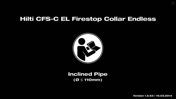 CFS-C EL Firestop Collar. Instruction for inclined pipe.