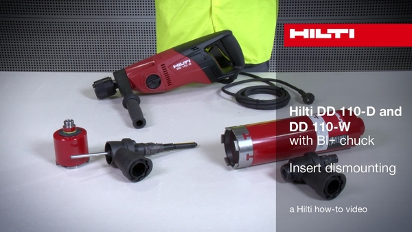 DD 110-D/W (BI+ chuck) – Removing the core bit